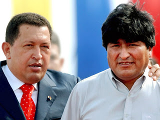Evo Morales y Chavez