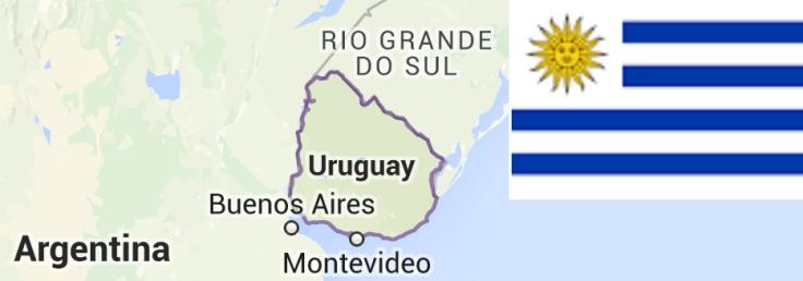 Territorio y bandera de Uruguay