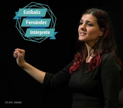 Estíbaliz Fernández Intérprete de lengua de signos