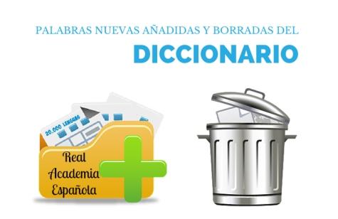 Palabras nuevas añadidas al diccionario de la RAE y palabras que se han borrado