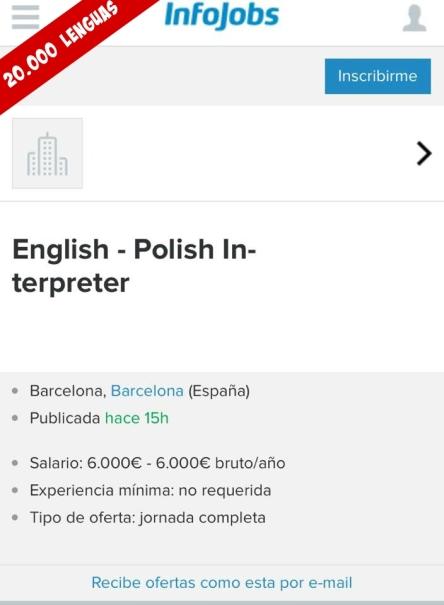 ofertas de trabajo de traducción donde se aprovechan del especialista