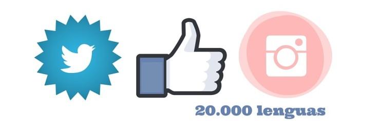 Redes Sociales y 20.000 lenguas
