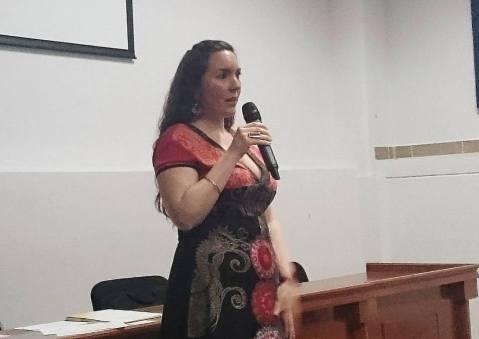 Berenice Font en las Primeras Jornadas para futuros Traductores de la UAQ