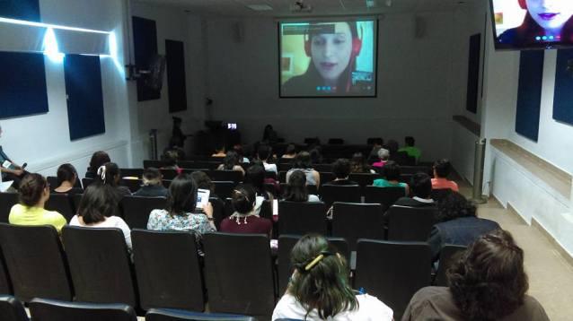 Olga Jeczmyk en las Primeras Jornadas para futuros Traductores de la UAQ