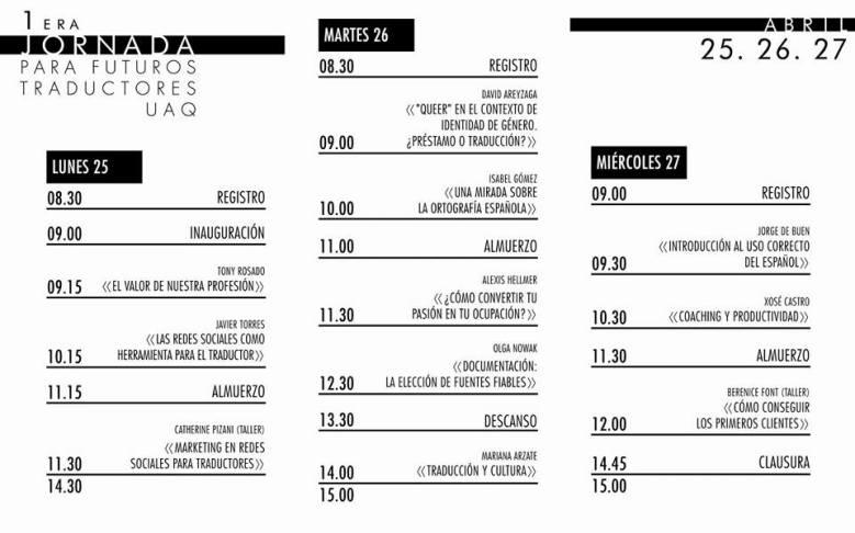 Primeras Jornadas para Traductores UAQ